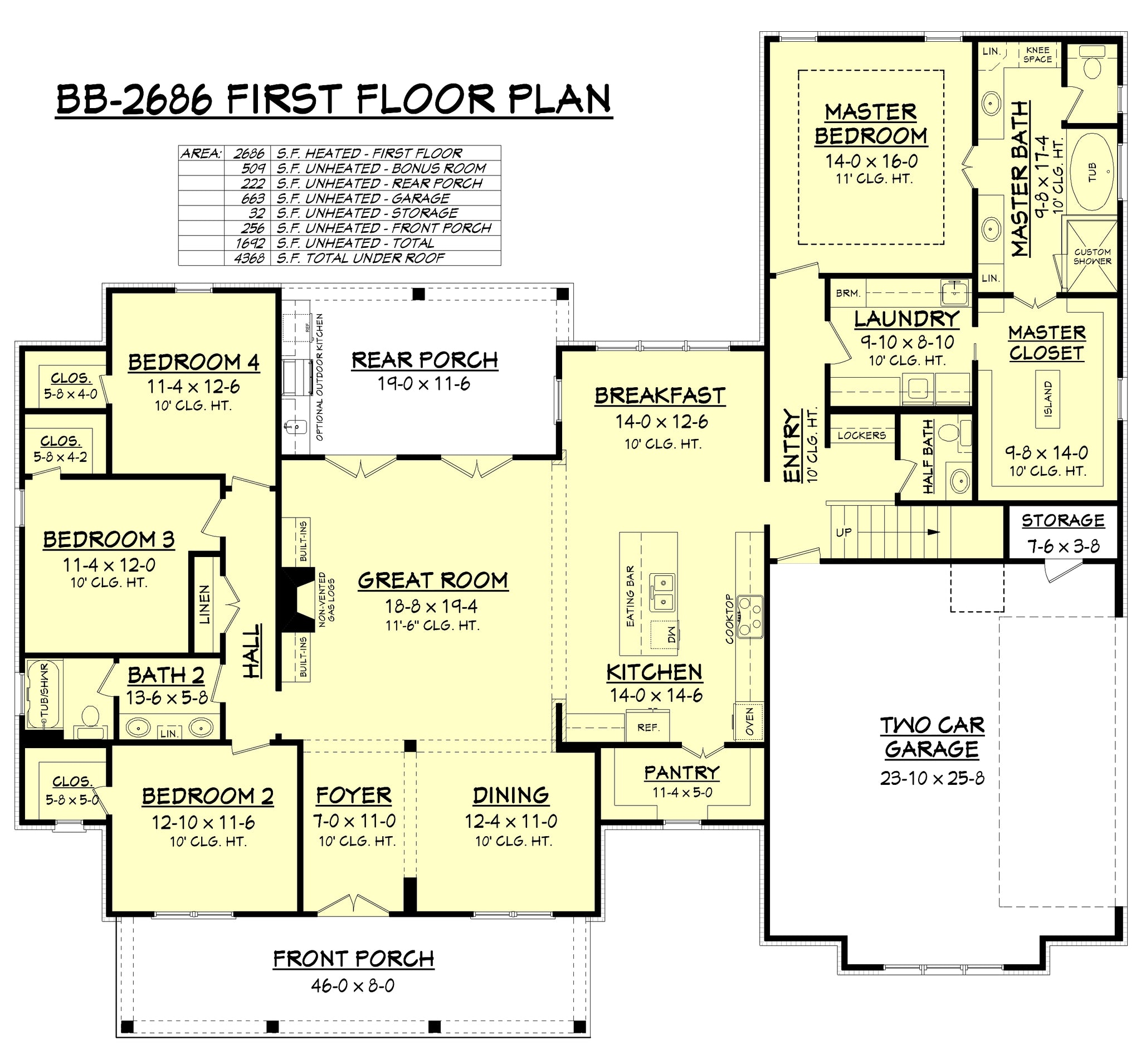 Amazing modern farmhouse house plan house plan zone for Windsong project floor plan