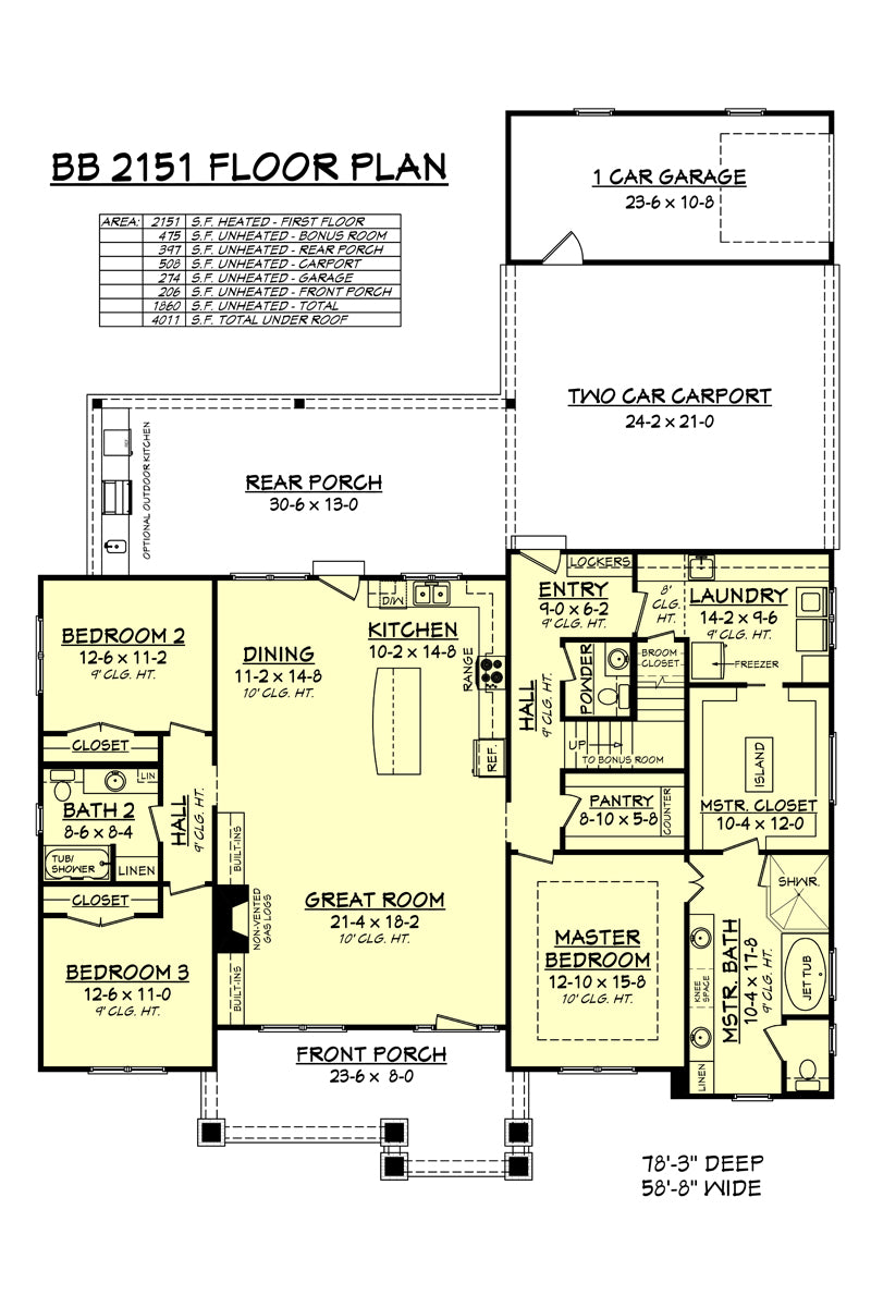 House Plan Zone Presents Our Newest House Plan Bb 2151