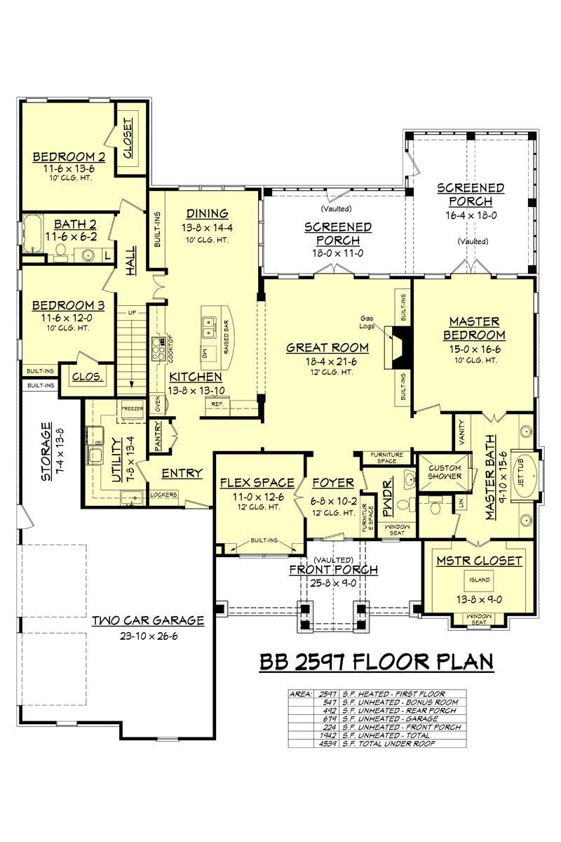 House plan bb 2597 from house plan zone for Bb home design