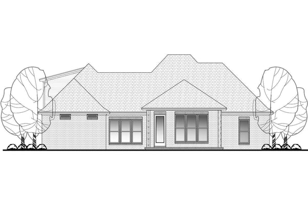 kynslee-house-plan-rear_grande Narrow Bedroom Bath House Plans on 2 floor house plans, 2 garage plans, storage shed plans, 2 bath home, 2 bath plumbing, carport plans, deck plans, 2 room house plans, 2 master suite house plans,
