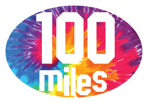 100 Miles Oval Decal (C)