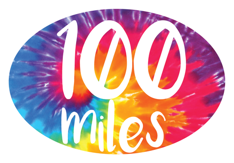 100 Miles Oval Decal (L)