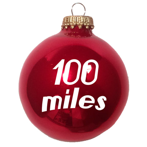100 Miles Christmas Ornament