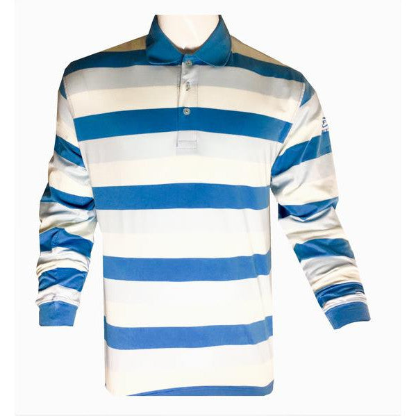 Firethorn Long Sleeve Stripe Polo Shirt
