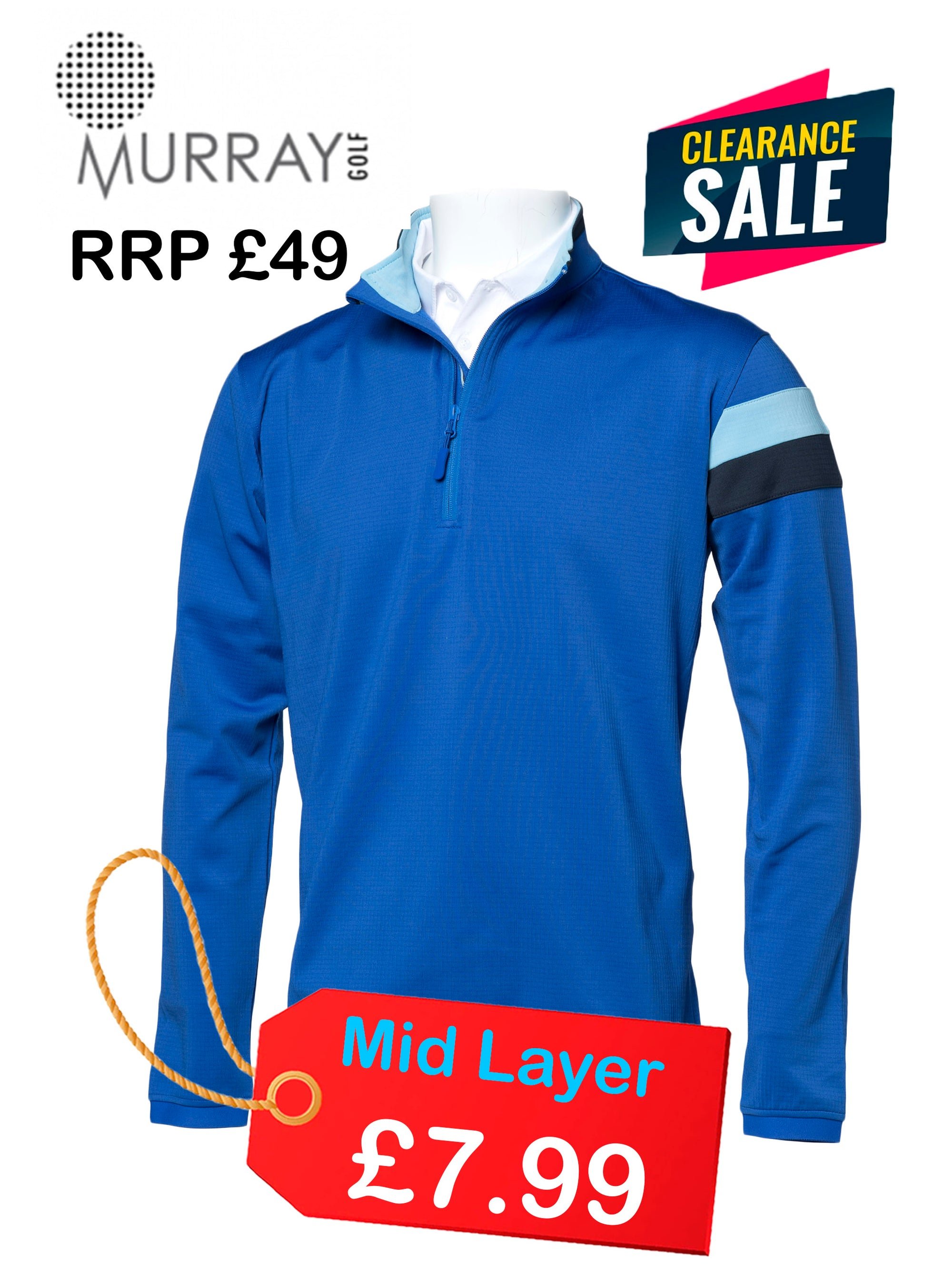 New Murray Golf LUCKY DIP Midlayer With Logo