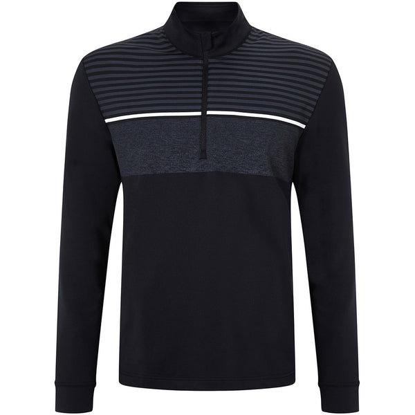 Callaway 1/4 Zip Chest Striped Thermal Tech Layering Pullover