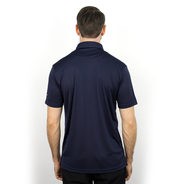 Walrus Henry Solid Mens Golf Polo Shirt Estate Blue