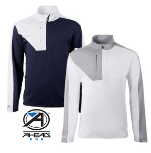 New Ahead Usa Golf Outwear Top 1/4 Zip RRP £59.99