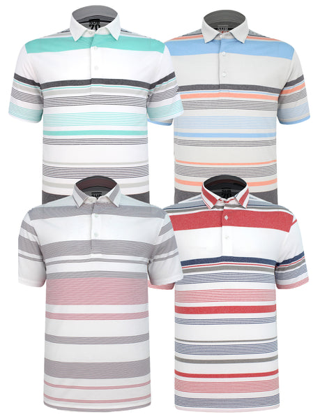 2020 Sub70 Tour Multi Stripe Polo Shirt