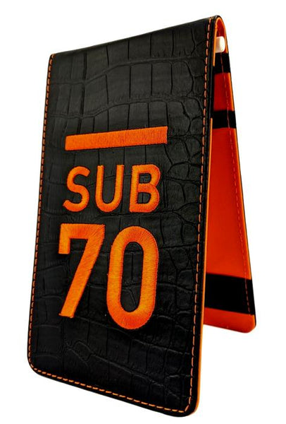 Limited Edition Sub70 Tour Flip Scorecard Holder Black/Orange