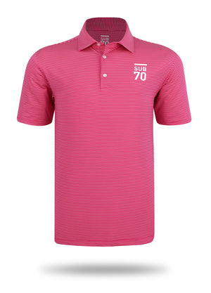 New 2019 SUB70 Tour Thin Stripe 2.0 Golf Polo Shirt Multi Stretch UPF 30+