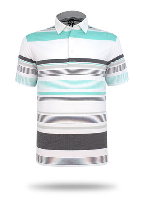2020 Sub70 Tour Multi Stripe Polo Shirt FREE HOLDALL