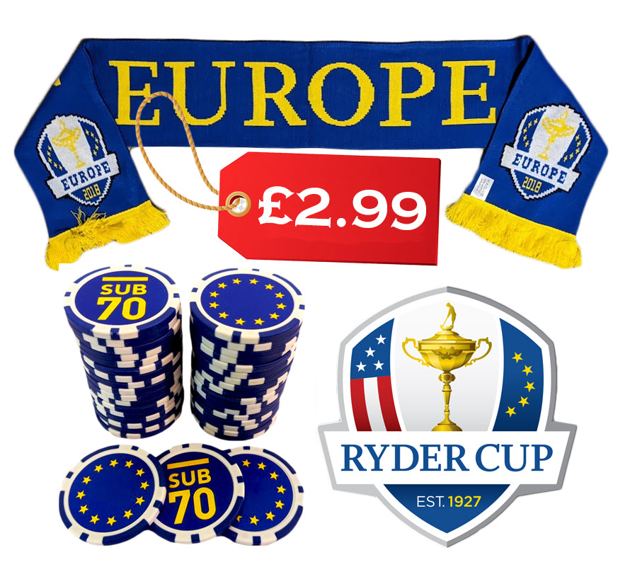 Ryder Cup Deal 2018 Official Scarf, Sub70 Tour Poker Chips