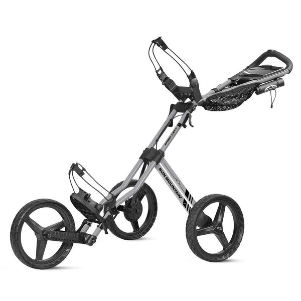 New Sun Mountain Tour Deluxe Speed Cart GT 3-Wheel Golf Push Trolley Cart Silver