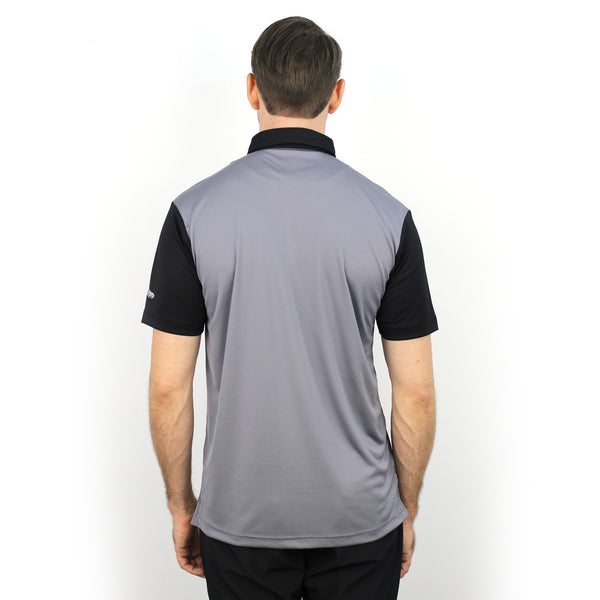 Walrus Ken Colour Block Mens Golf Polo Shirt Black