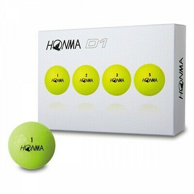 New Tour Honma D1 Golf Balls 1 Dozen Yellow