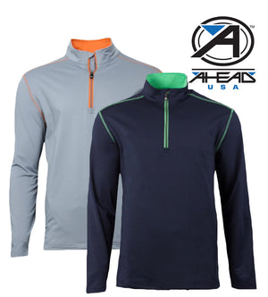 New Ahead Usa Golf Outwear Top 1/4 Zip RRP £59.99.