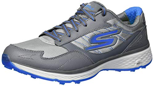 New Skechers Go Golf Fairway Golf Shoes Charcoal/Blue WIDE FIT 54516