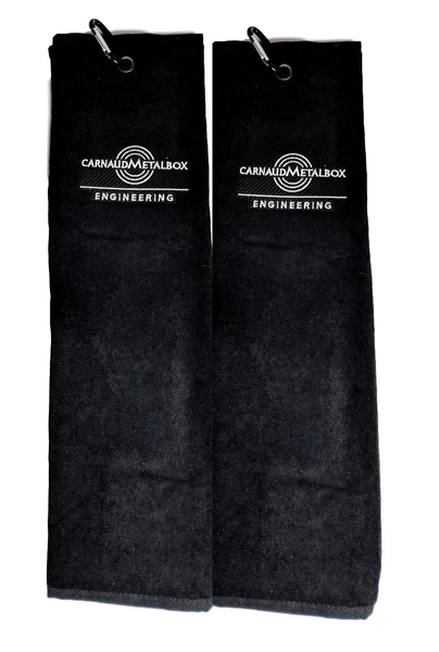 Black Trifold Golf Towels - Pack of 2
