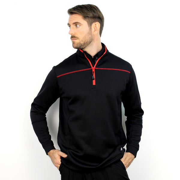 Walrus Finn 1/4 Zip Golf Midlayer Pullover Black