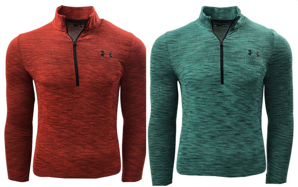 UNDER ARMOUR MENS UA VANISH SEAMLESS STRETCH MESH 1/2 ZIP GOLF PULLOVER