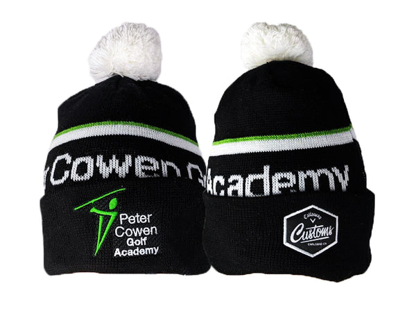 Callaway Custom peter golf academy black beanie woolly hat