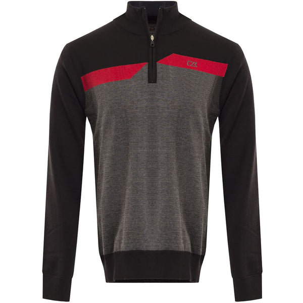 Cutter & Buck Mens Staggered Windblock Sweater Breathable Golf Pullover