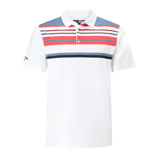 Callaway Engineered Roadmap Striped Golf Polo Shirts