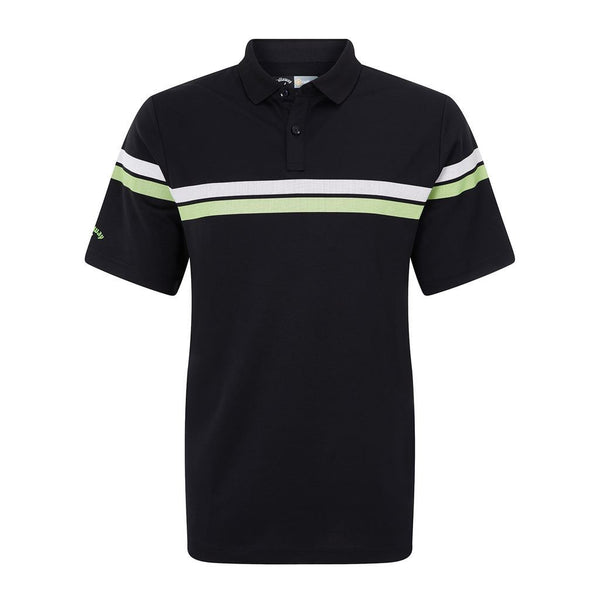 Callaway Athletic Printed Stipe Golf Polo Shirt