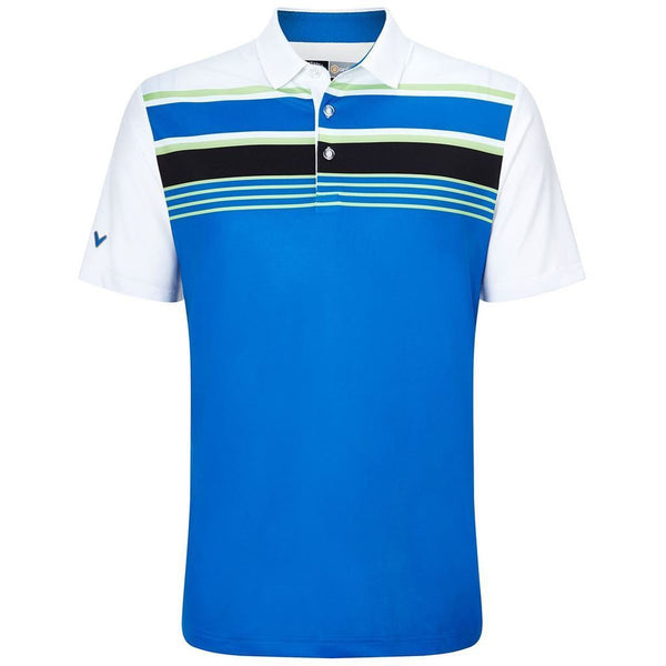 Callaway Roadmap Engineered Stripe Golf Polo Shirt