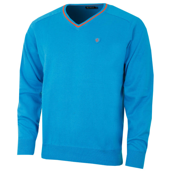 Island Green Mens V-Neck Golf Sweater IGKNT1664