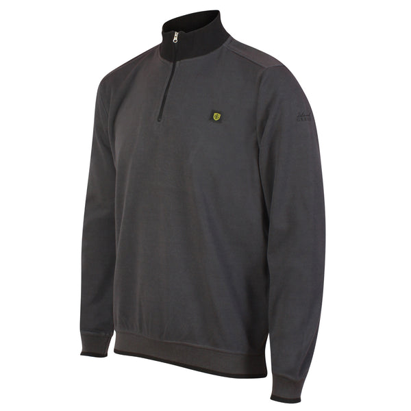 Island Green Knitted & Bonded 1/4 Zip Golf Sweater