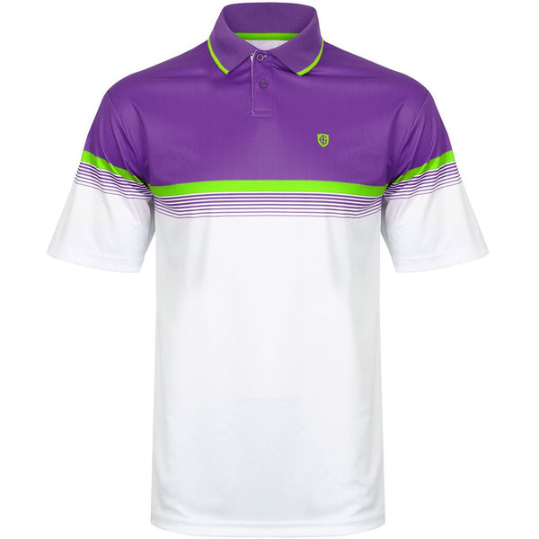 Island Green Coolpass Colour Block Mens Golf Polo Shirt