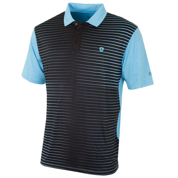 Island Green Stripe Mens Golf Polo Shirt