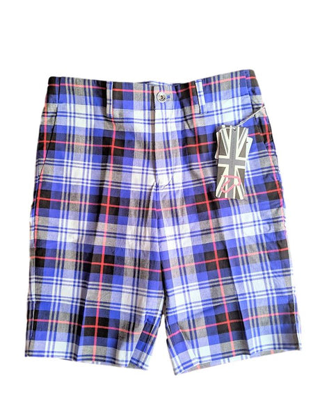 Junior Tour Ian Poulter Golf Tartan Check Shorts IJP Design