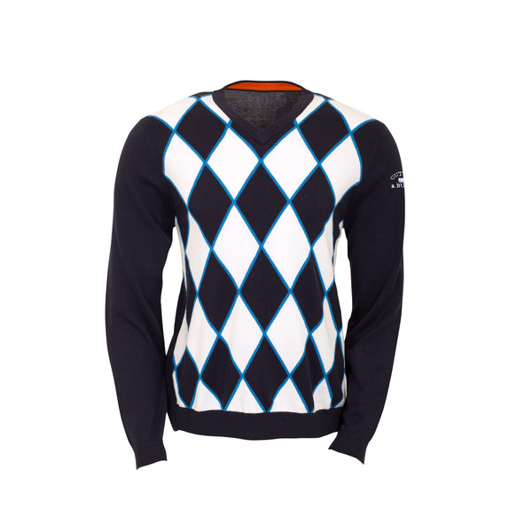 Cutter & Buck Turnberry Argyle Golf Sweater