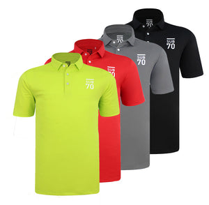 New 2019 SUB70 Tour Classic 2.0 Golf Polo Shirt Multi Stretch UPF 30+ FREE HOLDALL