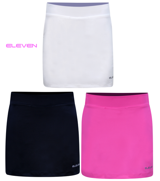 ELEVEN Ladies Plain Golf Stretch Woven Skort
