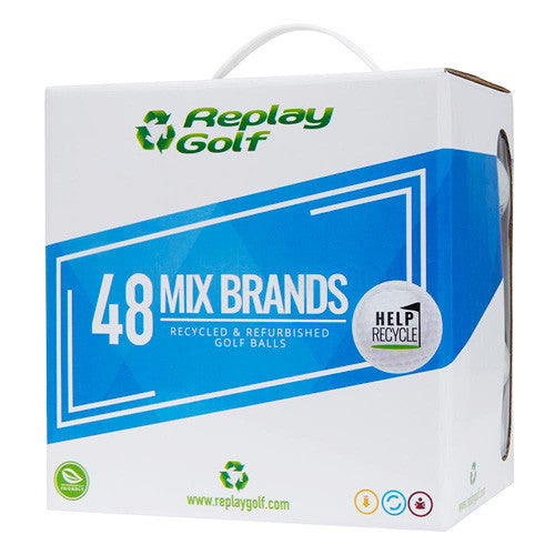 Replay Mixed Recycled Lake Golf Balls Box of 48