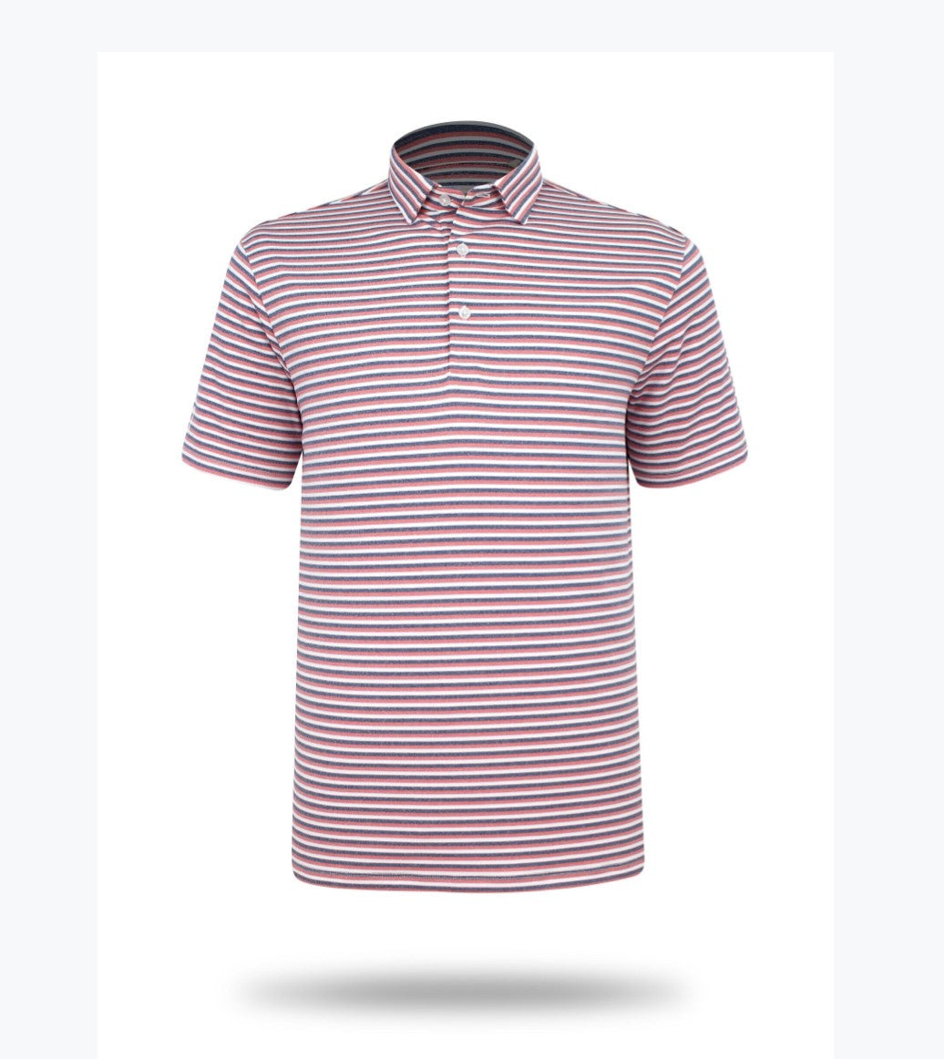 Sub 70 Tour Classic Polo Stripe #15 Red/Grey/White