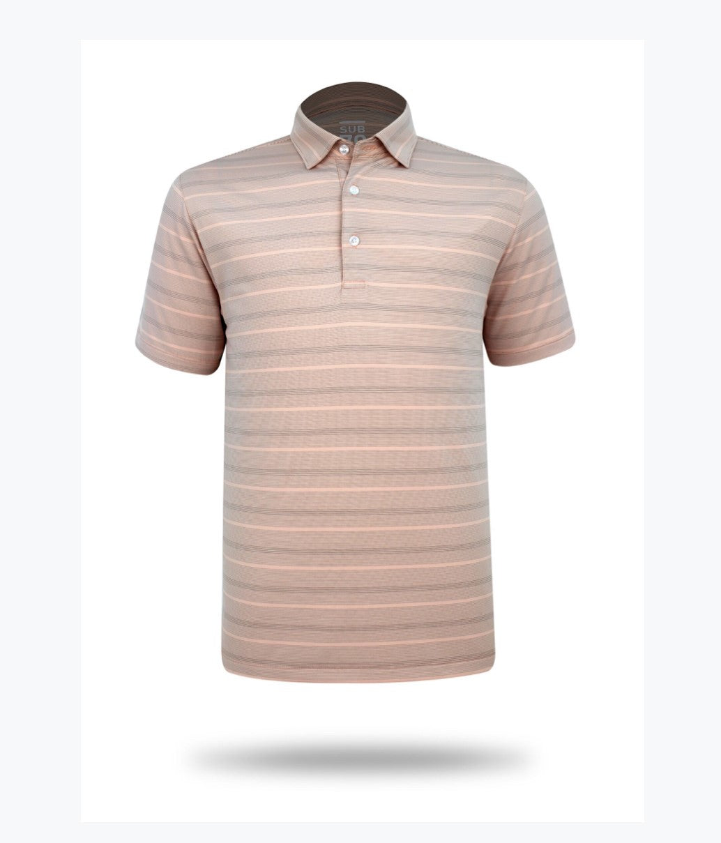 Sub 70 Tour Classic Polo Stripe #17 Blush/Grey