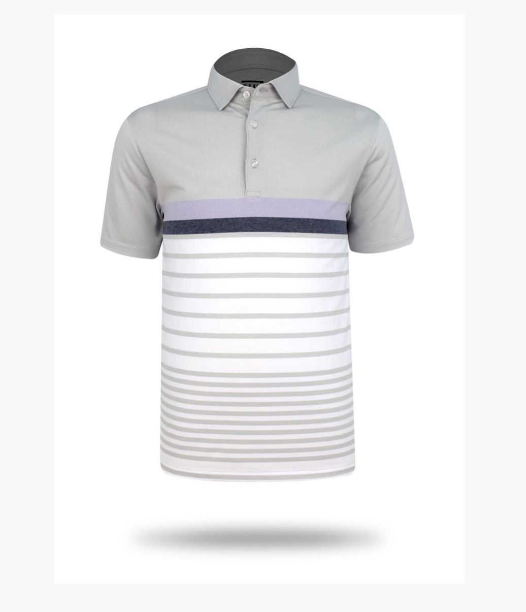 Sub 70 Tour Classic Polo Stripe #20 Grey/Mauve