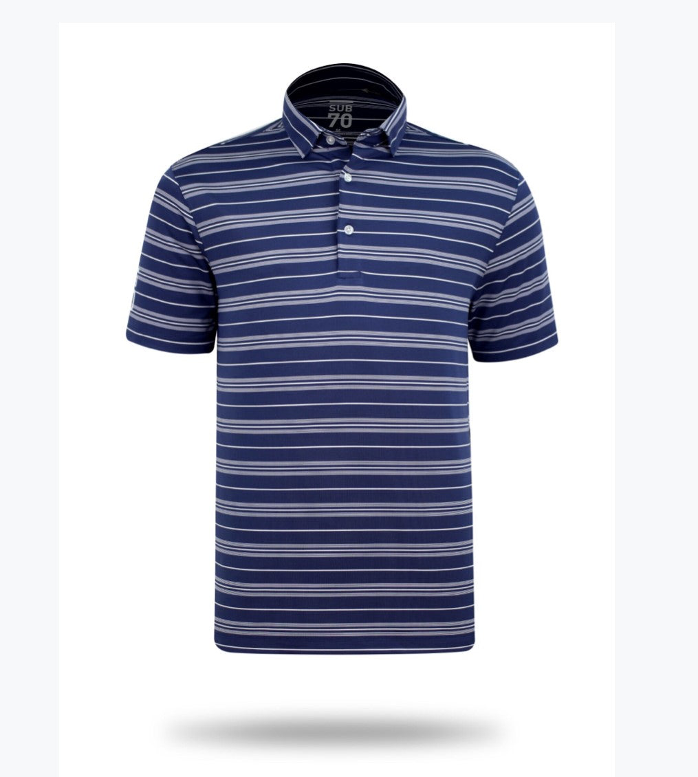 Sub 70 Tour Classic Polo Stripe #2 Navy