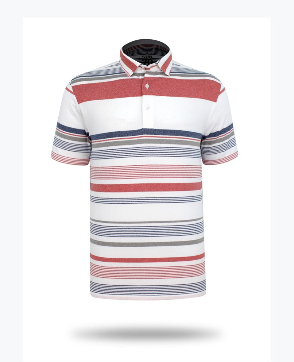 Sub 70 Tour Classic Polo Stripe #3 Red/Navy