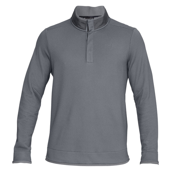 2019 Under Armour Storm SweaterFleece Snap Golf Mock Grey