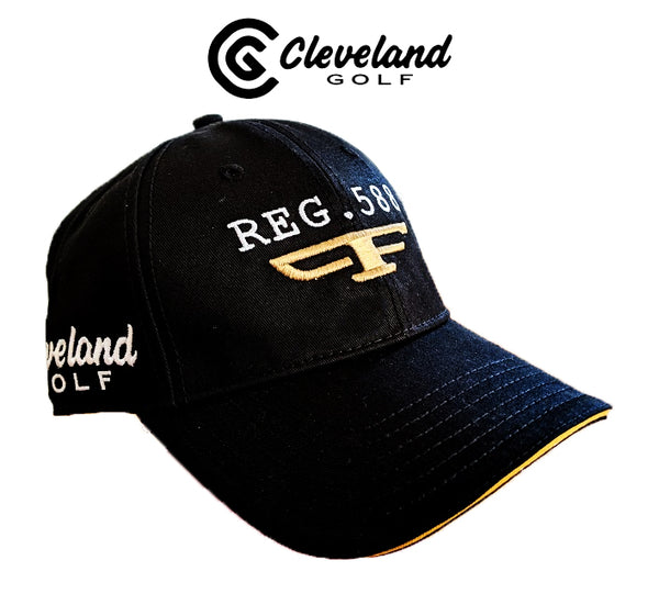 New Cleveland Reg 588 Tour Golf Cap Black Adjustable 100% cotton twill One SIze