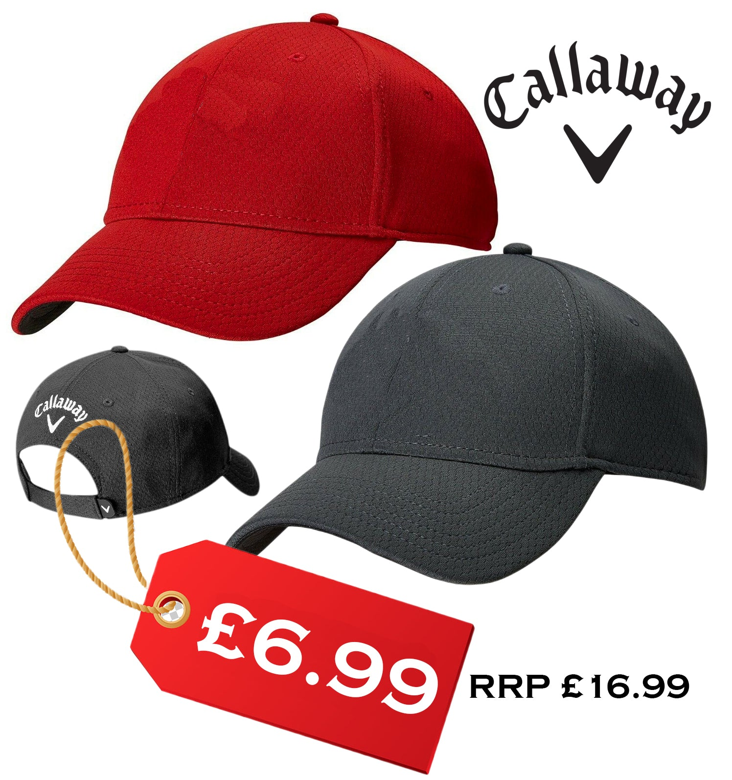 New Callaway Performance Series Tour 30+ UV Protection Golf Cap / Hat Blank Front