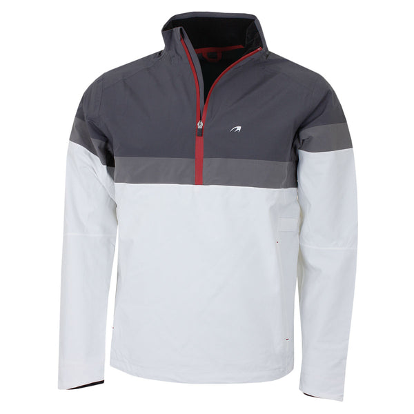 Benross Mens Golf Hydro Pro Q Zip Pull Over Waterproof Jacket White