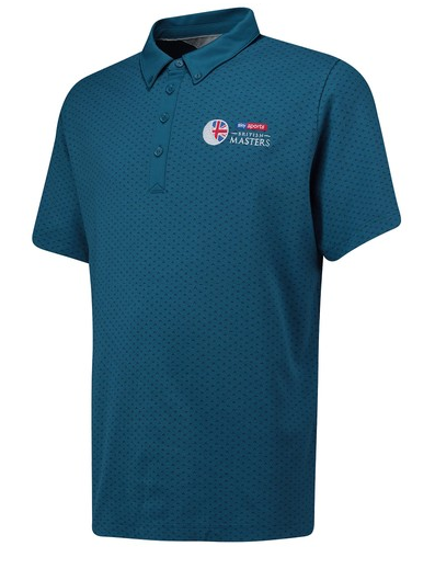 European Tour adidas British Masters adiPure Spring Seasonal Polo - Noble Teal