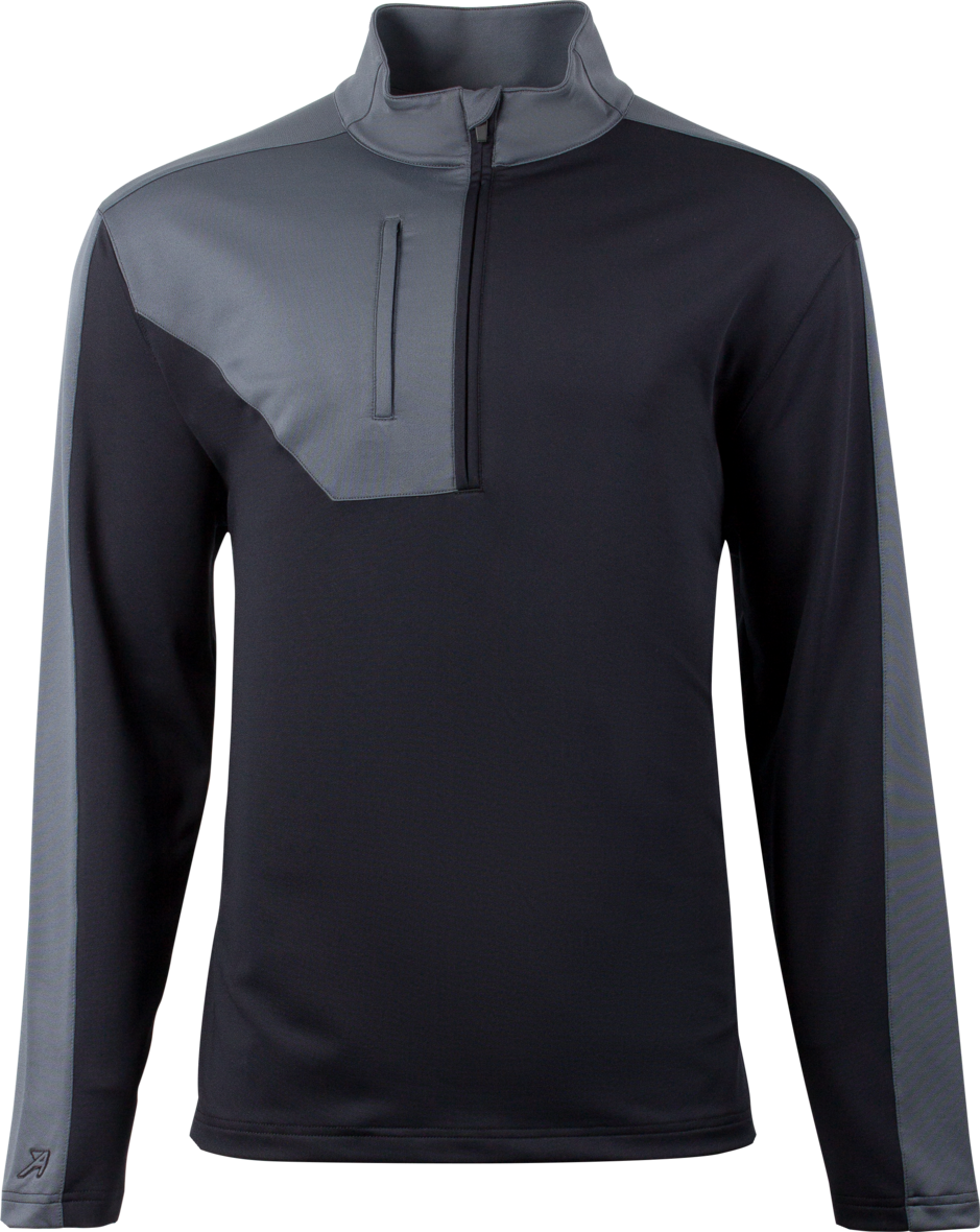 Black/Grey New Ahead Usa Golf Outwear Top 1/4 Zip RRP £59.99